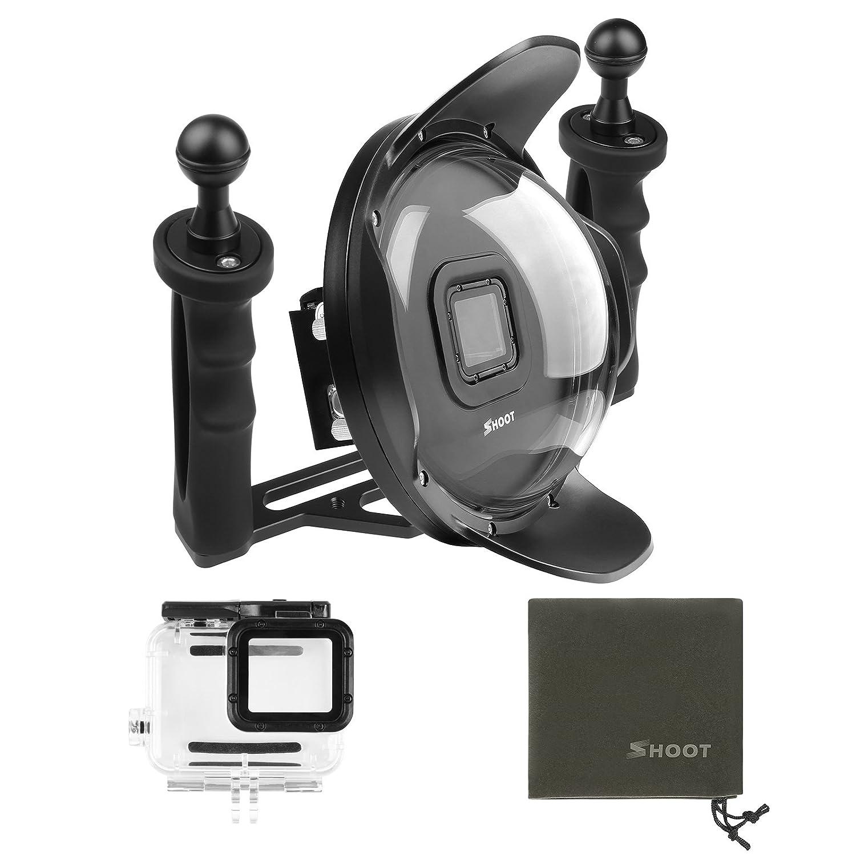 D & F 6インチUnderwater Diving Photographyドームポート用防水ハウジングケースハンドヘルドスタビライザーGoPro Hero 6 /5ブラック   B078V1D3N4