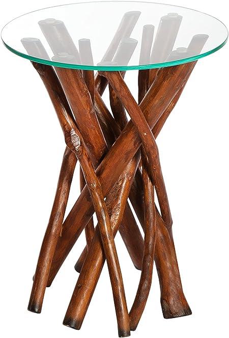 Dunord Design Algarve Table Basse Ronde En Bois Flotté Et En