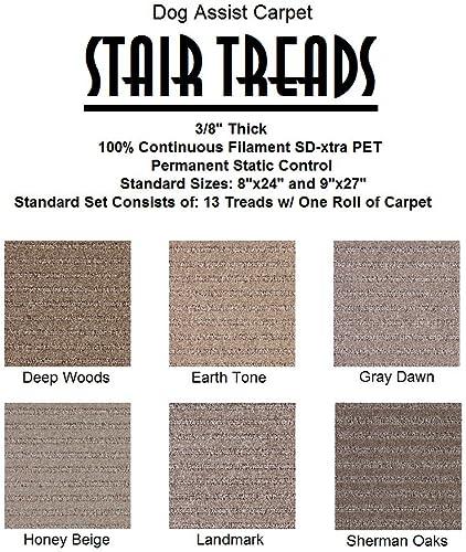 9 x27 Dog Assist Carpet Stair Tread