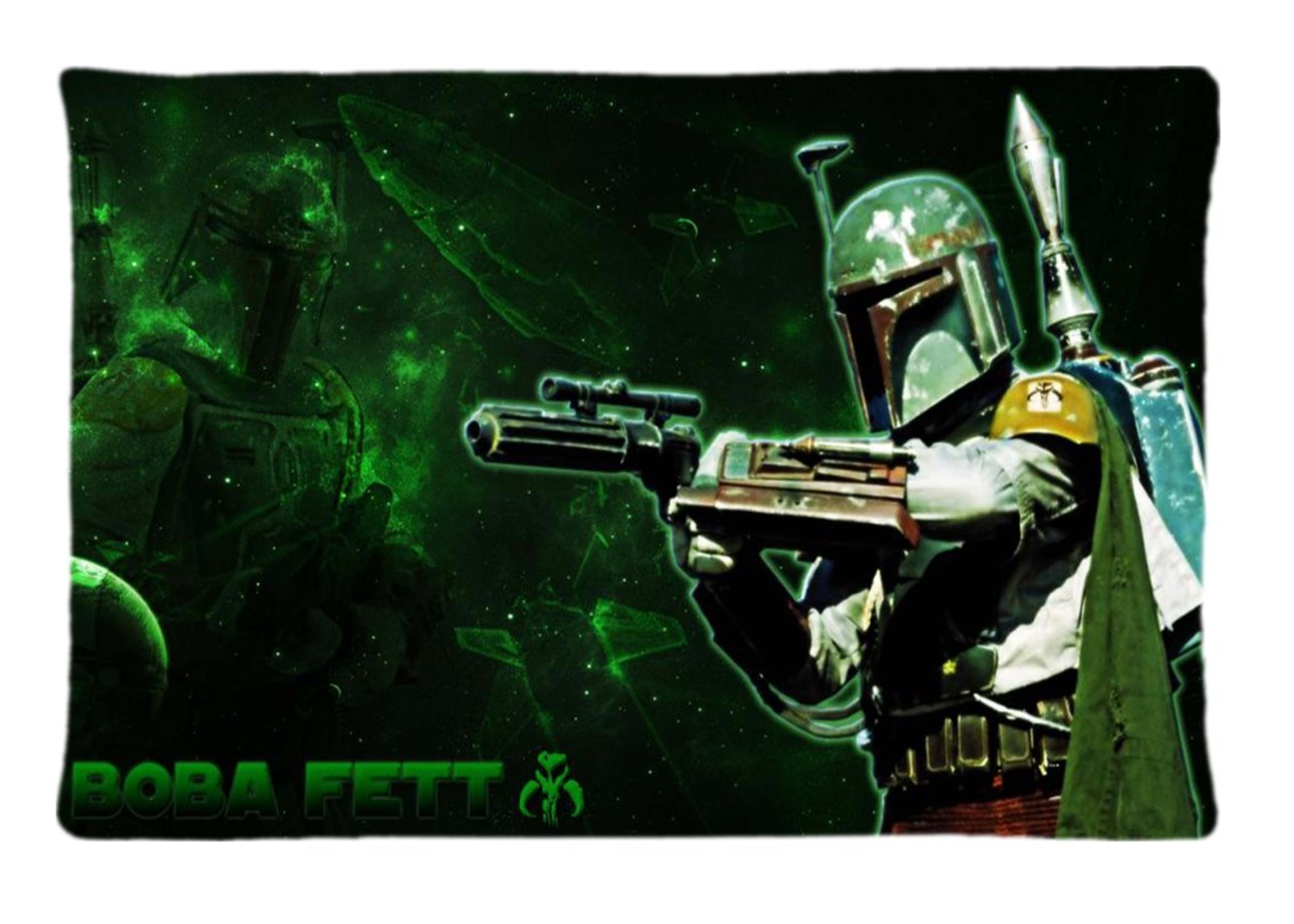 Amazon.com: Boba Fett Armor Star Wars Custom Diy Pillow Case ...