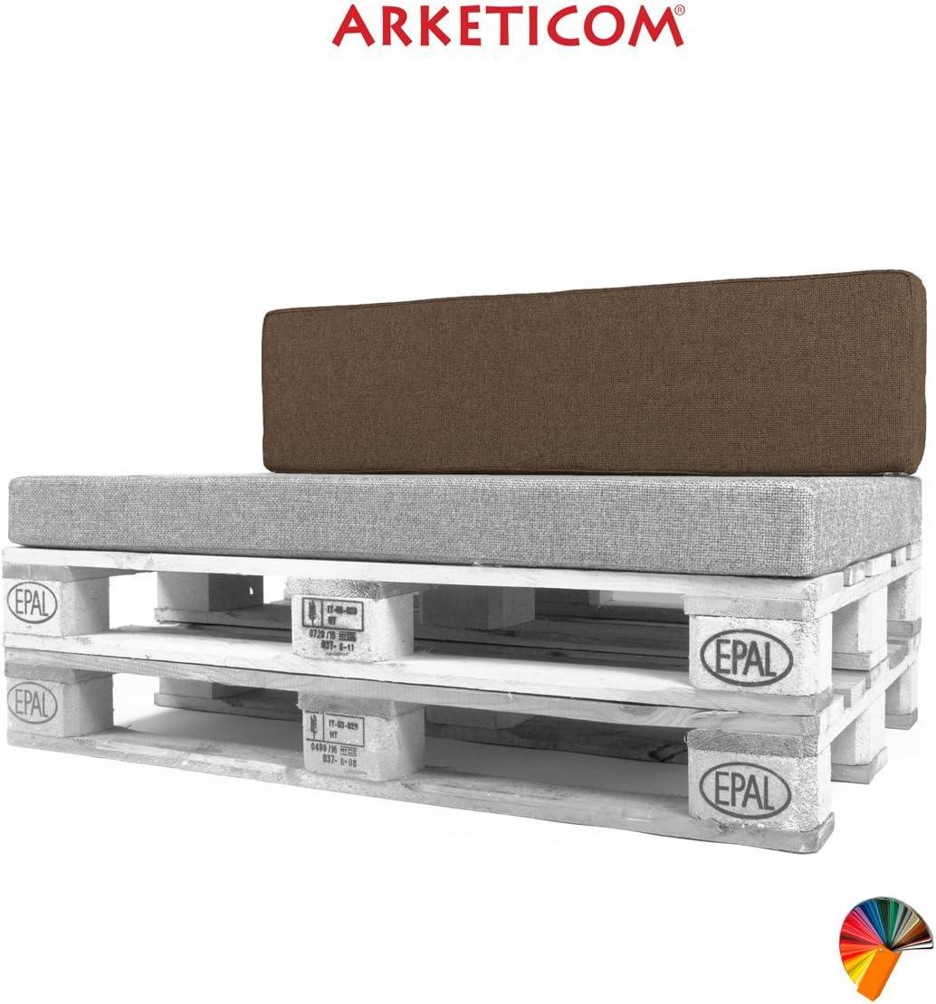 Arketicom Pallett-One Coussin Coussins Espalier pour Canape Euro Palette en Polyurethane haute densite Convient pour interieur et exterieur couvert 80 cm larg x 30 cm haut x 15 epass 1000/% Artisanat Italien Tissu Rouge Melange Polyester Coton