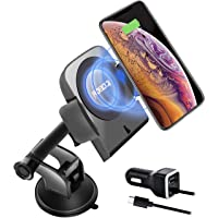 Roboqi Automatic Wireless Car Charger with Contact Sensor, Compatible with iPhone Xs/XS MAX/XR/X/8/8 + & Samsung Galaxy Note 9/S9/S8