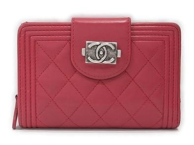 b24485aa39d8 Amazon | [シャネル] CHANEL ボーイシャネル 二つ折り財布 長財布 ピンク ...