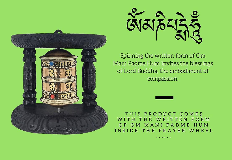 Tibetano Budista símbolos Om Mani Padme Hum Spinning 3 tamaños ...