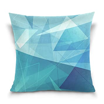Amazon.com: Ye Store poligonal textura algodón Throw Pillow ...