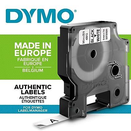 DYMO D1 - Etiquetas Auténticas, Impresión Negra sobre Fondo Blanco, Autoadhesivas, para Impresoras de Etiquetas LabelManager, Rollo de 9 mm x 7 m