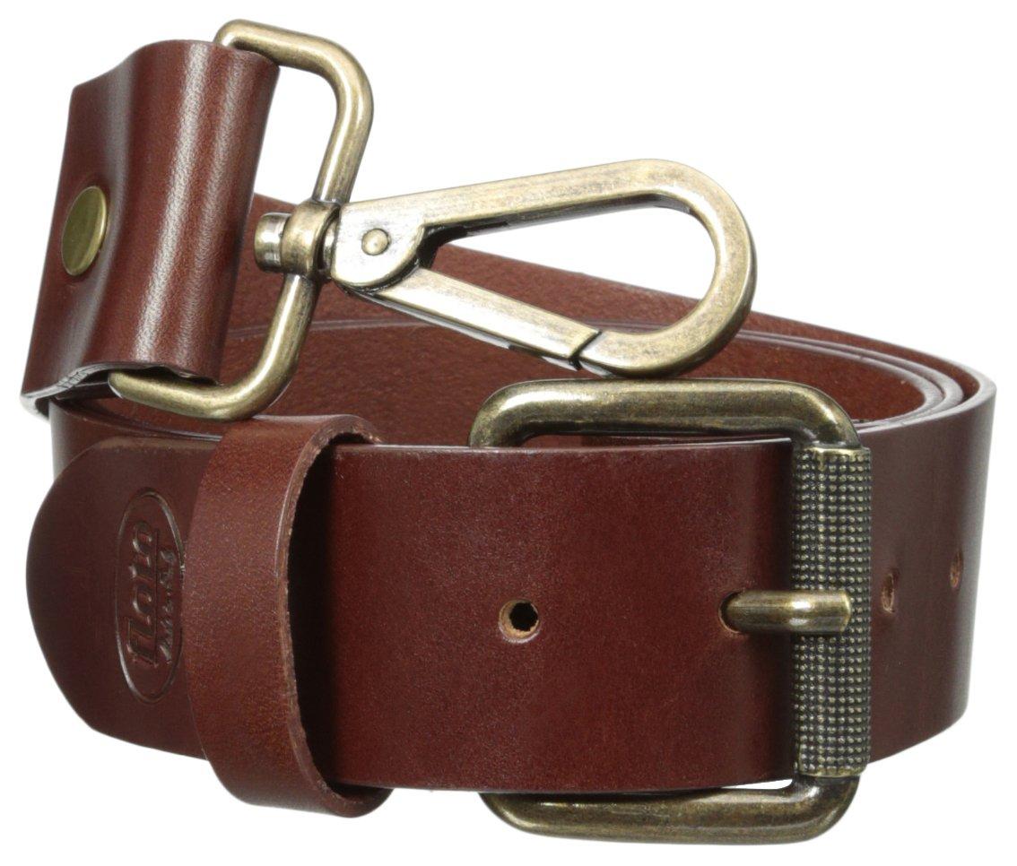 Floto Italian Calfskin Leather Belt Strap, Vecchio Brown, One Size