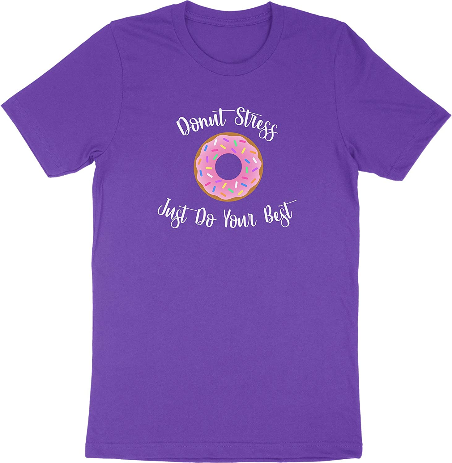 HolyShirtBalls Donut Stress Just Do Your Best Cute Food Pun Phrase Quote Saying Kids Youth Toddlers Boys Girls T-Shirt