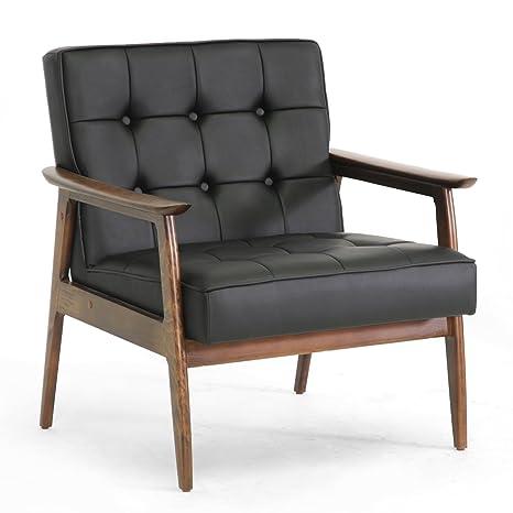 Amazon.com: Baxton Studio Stratham mid-century moderno Club ...