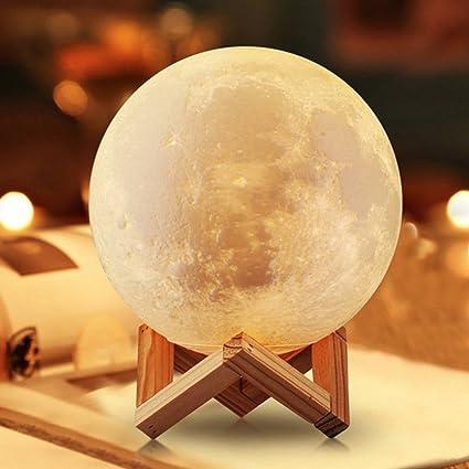 Ideacone moon light lamp luna moon lamp modern home 3d printing lamp warm