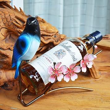 Amazoncom Sigmall Orchids Iron Wine Rack Metal Flower Wine