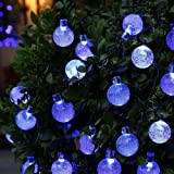 Solar String Lights, OxyLED 30 LED Garden Patio Outside String Lights,Waterproof Indoor/Outdoor String Lights, Great Garden Terrace Patio Outside Xmas Lights (Blue)