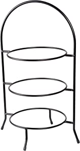 Creative Home Iron Works 3-Tier Metal Dinner Plate Rack Party Food Server, 20