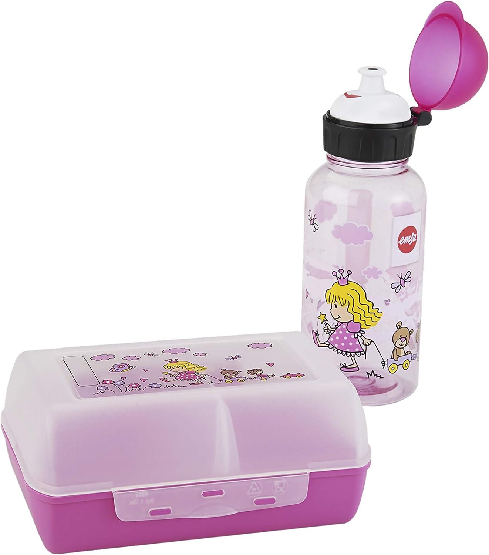 Emsa 518137 - Set botella de agua y fiambrera princesa para niños de Tritan