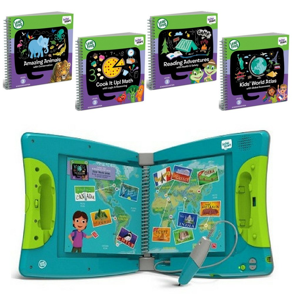 LeapFrog LeapStart Interactive Learning System Kindergarten & 1st Grade For Kids Ages 5-7, With Level 3 Kindergarten Educational Activity Books Set, Learn Basic Skills For Life, Fun Activity Bundle by LeapFrog