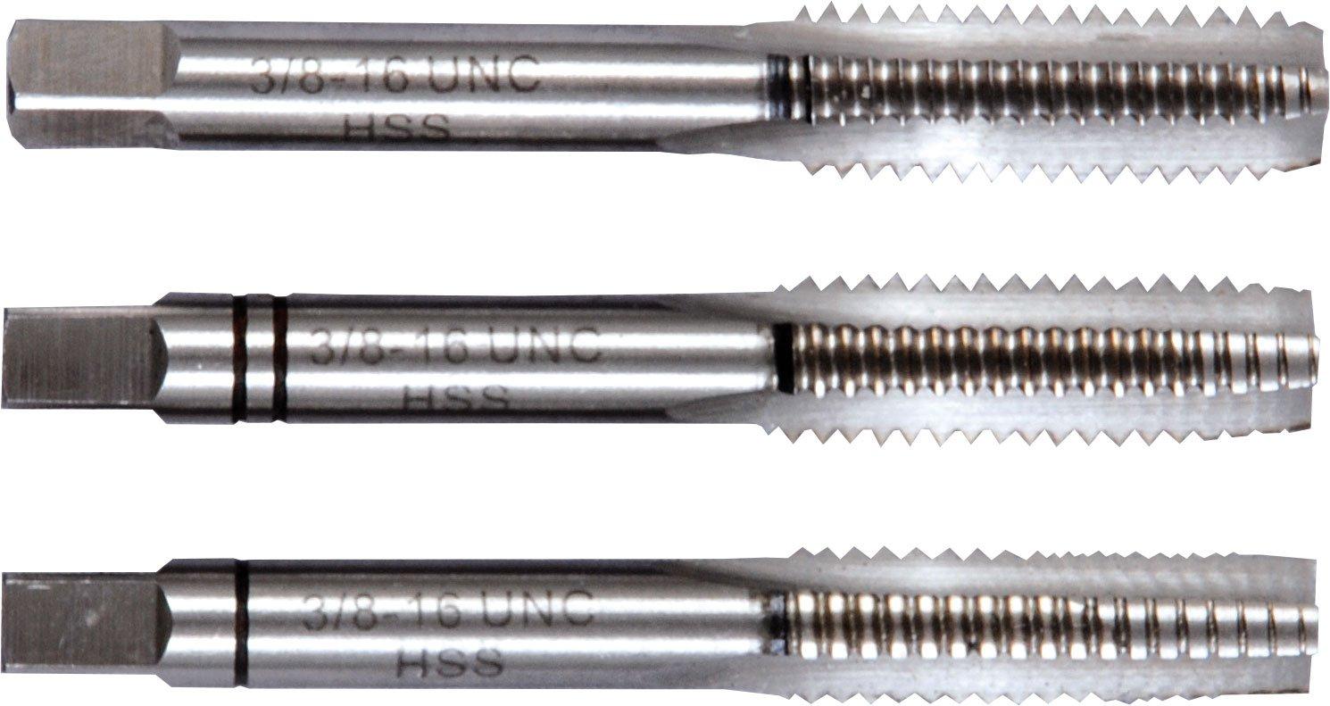 6 93306 Projahn Handgewindebohrersatz 3 teilig HSS-G DIN 352 UNC Nr