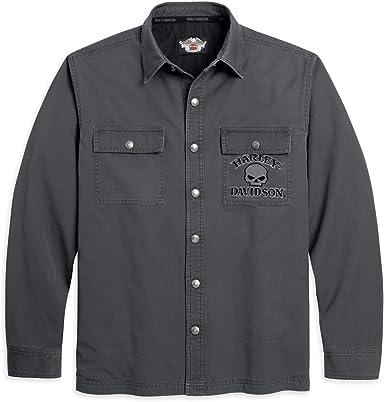 HARLEY-DAVIDSON - Camisa Casual - Camisa - Manga Larga - para Hombre Gris XXL: Amazon.es: Ropa y accesorios