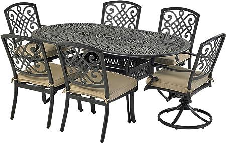 Amazon Com Bridgetown 7 Piece Dining Set Garden Outdoor