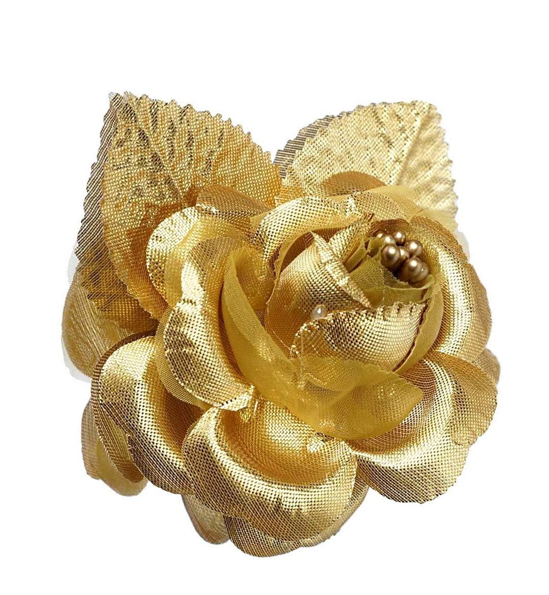 12-Silk-Roses-Wedding-Favor-Flower-Corsage-Gold