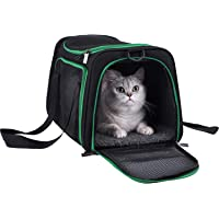petisfam Soft Pet Carrier for Medium Cats and Small Dogs with Cozy Bed, 3 Doors, Top Entrance | Airline Approved, Escape…