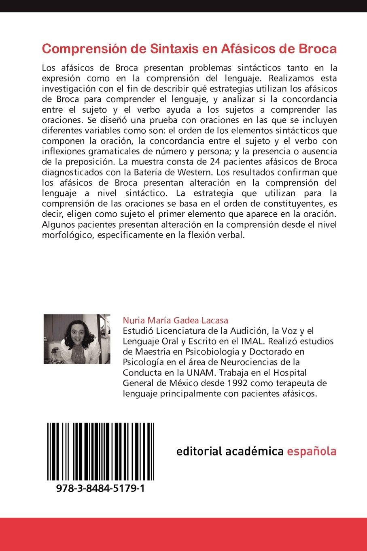 Comprensión de Sintaxis en Afásicos de Broca: Efecto de la Concordancia en la Comprensión de la Sintaxis en Afásicos de broca Hispanohablantes (Spanish ...