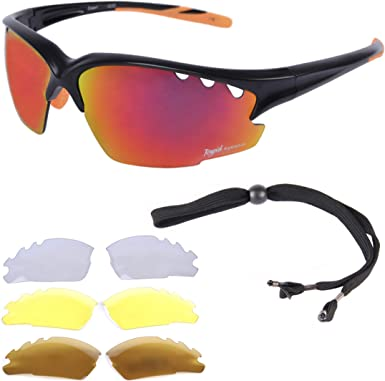 New 5 Lenses Cycling Sunglasses Full Frame Sports Sunglass Eyewear Sport Glasses