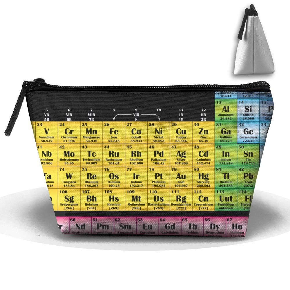 fvhtftyの要素の周期表Personalityポータブルレディース台形旅行バッグCosmetic Bag受信バッグ B07C6XTRZR