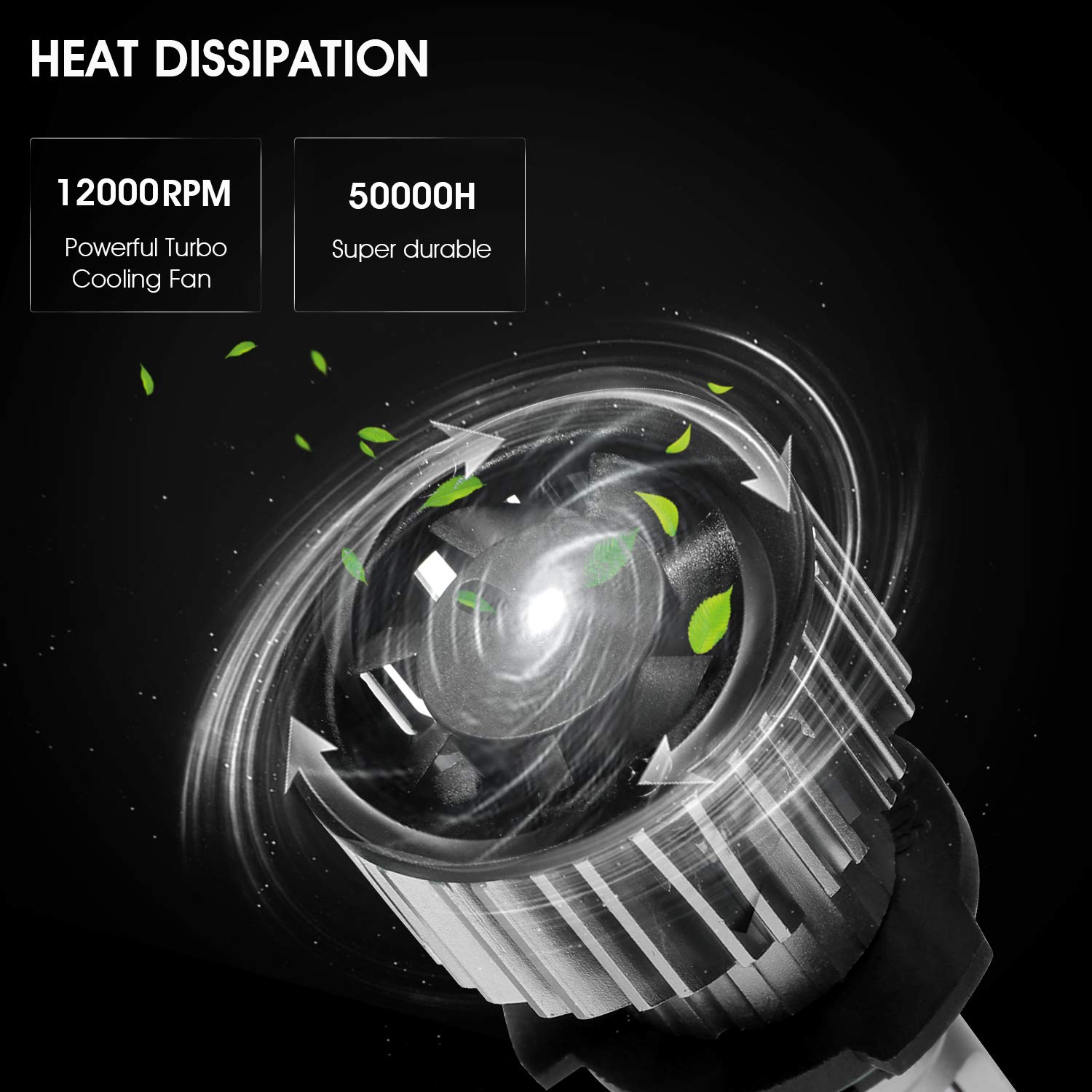 Pack of 2 Super Clear 8000Lm 6000K Cool White with Heat Dissipation System 9006//HB4 LED Headlight Bulbs SUAOKI All-in-One Conversion Kit Waterproof IP68 for High//Low Beam 5559077097