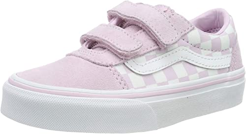 Vans Ward V-Velcro Suede, Baskets Fille