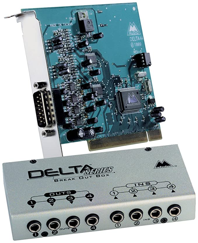 Amazon.com: M-Audio Delta 44 24/96 PCI Tarjeta de audio ...