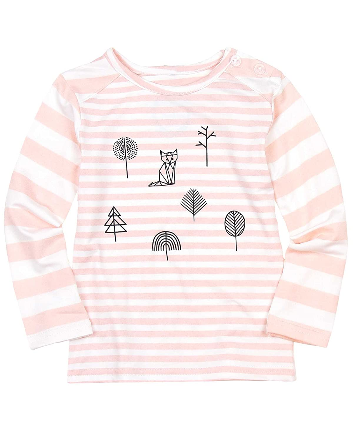 Sizes 12M-4 Deux par Deux Little Girls Striped Top Soft Eyes