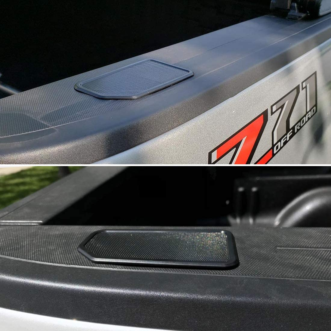 Ansite Truck Bed Rail Stake Pocket Covers for 2014-2018 Chevy Silverado /& GMC Sierra Odd Shaped Holes