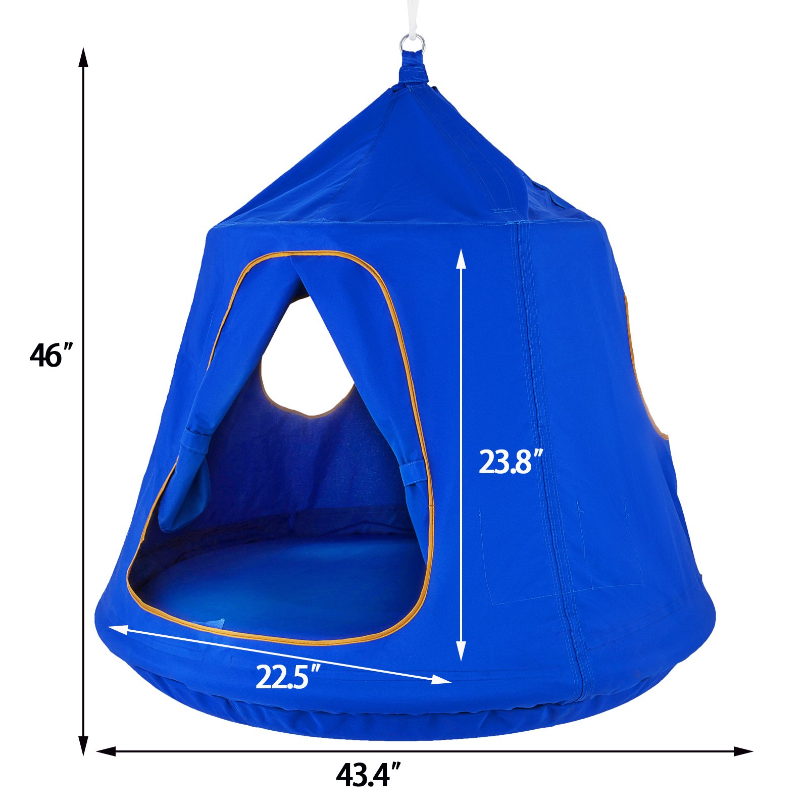 Mophorn Hanging Tree Tent 45 diam x 54 H Hanging Tent Swing Tent Waterproof Hanging Tree&Ceiling Hammock Tent Green Kids Outdoor Tents Playhouses (Blue) by Mophorn (Image #3)