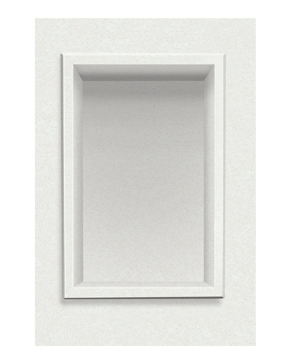 Transolid ACCESS0001-A8 Decor 7-1/2 x 11-Inch Recessed Shampoo Caddy, Matrix White by Transolid