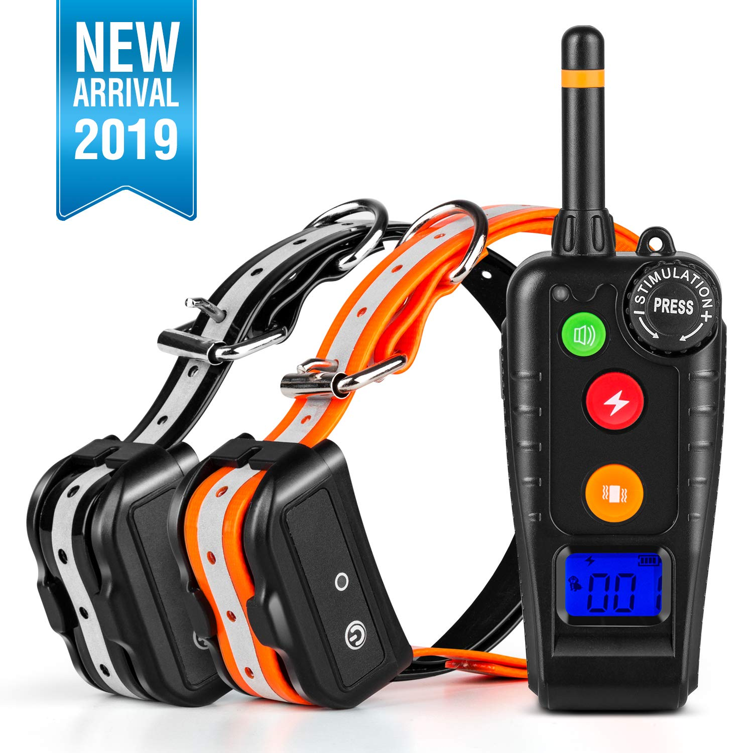 PetYeah Dog Training Collar for 2 Dogs,1000FT Remote Shock Collar for Dogs,Waterproof and Rechargeable,Beep/Vibration/Shock w/3 Training Modes for Small Medium Large Dogs