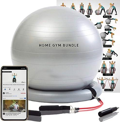 Home Gym Bundle Exercise Ball