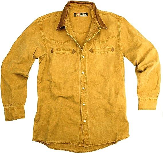 Kakadu Traders Western Outdoor Señor Camisa con cuello de ...