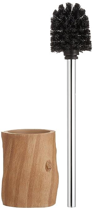 Seifenspender holzoptik  WENKO 21041100 WC-Garnitur Forest - elegante Holzoptik, Polyresin ...