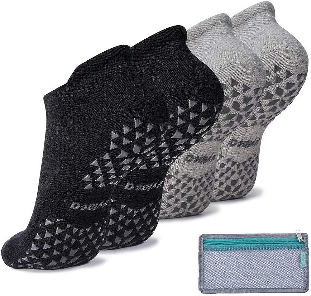 Non Slip Grip Yoga Pilates Barre Fitness Hospital Home Barefoot Cushioned Socks