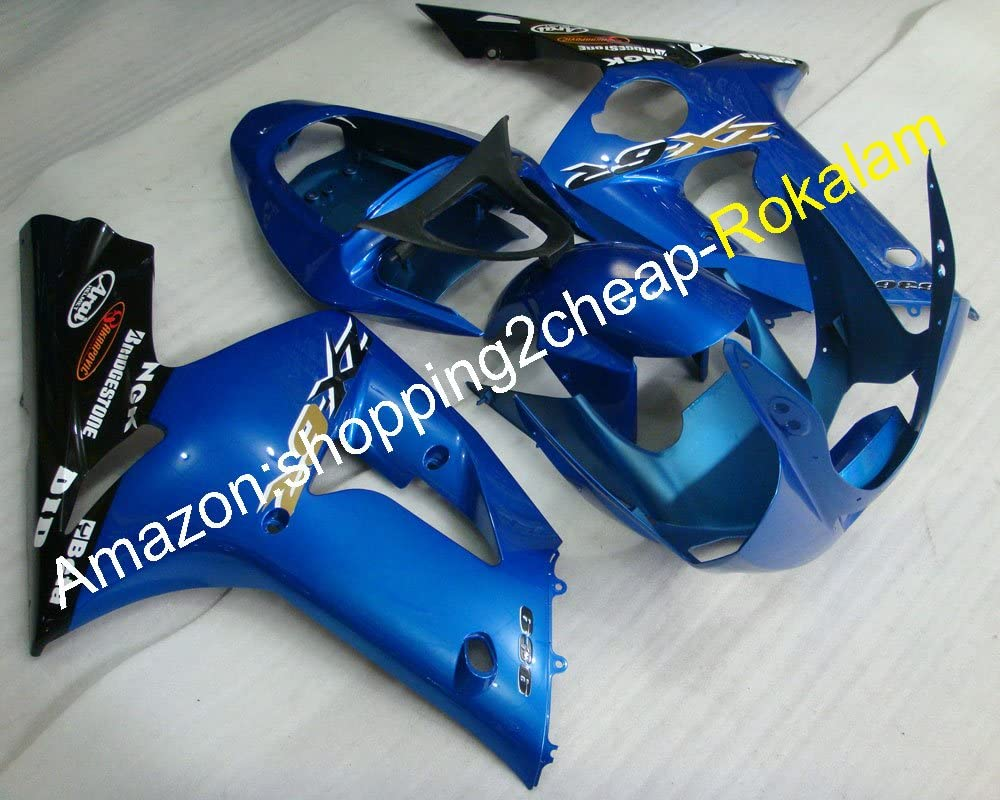 For Kawasaki Ninja ZX-6R 2003 2004 ZX 6R 636 ZX636 ZX-636 03 04 ZX6R Blue Black Bobywork Fairings Kit Injection molding