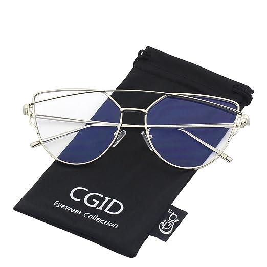 141 opinioni per CGID MJ74 Occhiali da Sole Donna Moderni Fashion a Specchio Occhio di Gatto