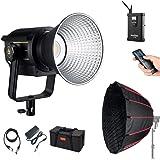 Godox VL150 LED Video Light with D90A Softbox, 150W 5600K Daylight-Balanced Bowens Mount,CRI 96 TLCI 95, 61000Lux@1m