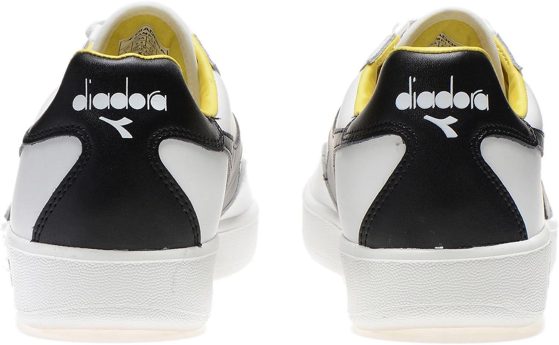 Diadora - Scarpe Sportive B. Elite per Uomo e Donna C6622 Bianco Nero Girasole