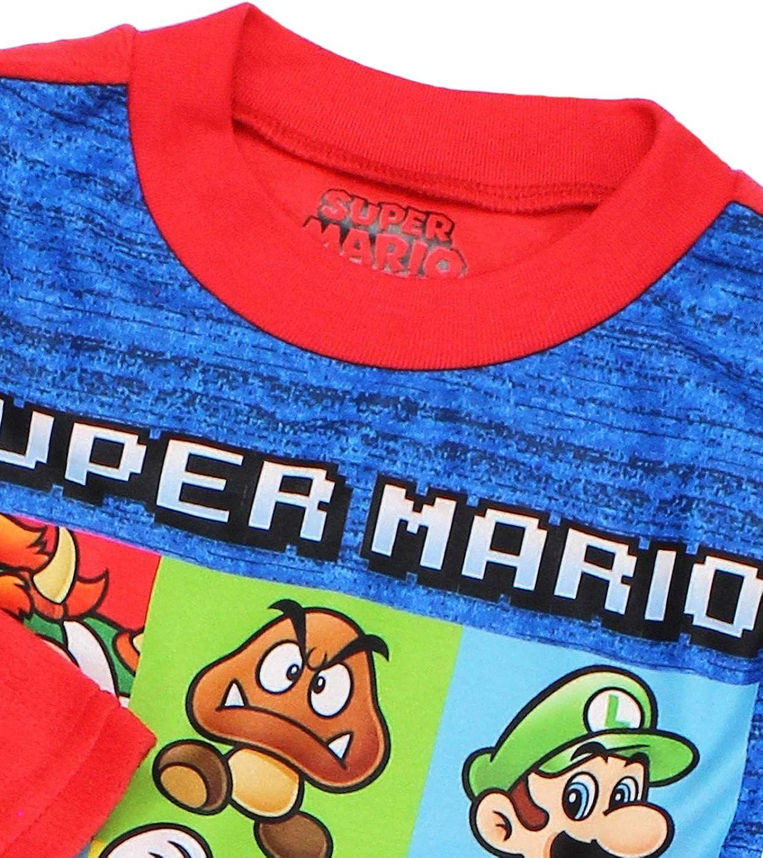 SUPER MARIO Boys Long Sleeve 2-Piece Fleece Pajamas Set