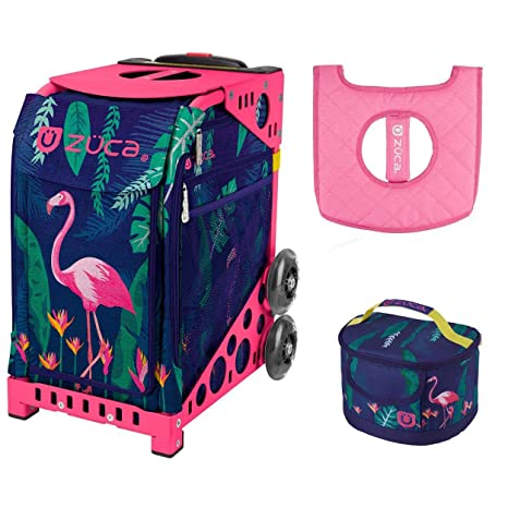 ZUCA Flamingo Sport Insert Bag with Pink Frame, Gift Lunchbox & Seat Cushion