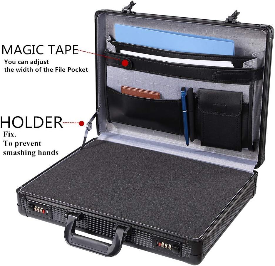 Aluminum Hard Case with Foam Insert Black Briefcase Interior Organizer /…