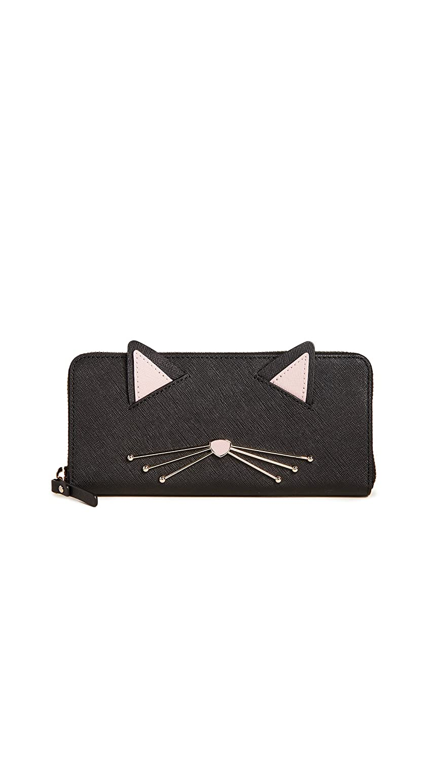 f5cd3965dbf5 Amazon.com: Kate Spade New York Women's Cat's Meow Lindsey Cat Wallet, Black  Multi, One Size: Shoes