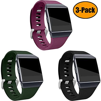 Maledan Bands Compatible with Fitbit Ionic, 3 Pack Large Small
