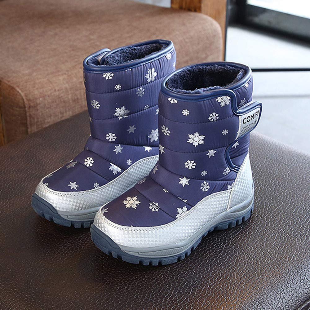Vovotrade Children Snow Boots Winter Warm Middle Boots Casual Students Sneakers