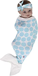 product image for Cozy Cocoon - Baby Cocoon Swaddle and Matching Headband - Mermaid - 0-3 Months